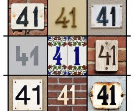 Collage of House Numbers Forty-one