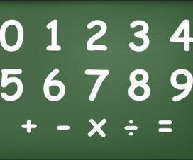 Numbers and mathematical operations on blackboard vector